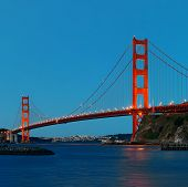 Golden Gate Bridge in San Francisco in early morning