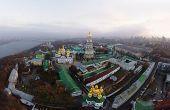 aerial view of Kiev-Pechersk Lavra