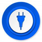 plug icon, electric plug sign