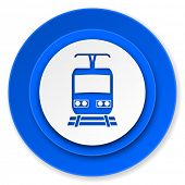 train icon, public transport sign