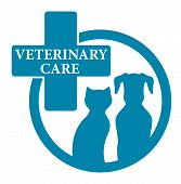 Blue Medical Veterinary Sign