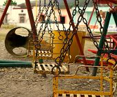 picture of swingset  - A colourful swingset in Tlaxiaco - JPG