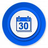 calendar icon, organizer sign