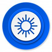 sun icon, waether forecast sign  poster