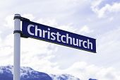 Christchurch sign in New Zealand