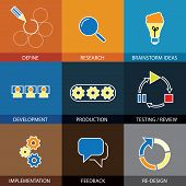 Software Engineering, Project Planning - Concept Vector Flat Line Icons
