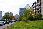 Baltrusaicio Street In Vilnius At Afternoon Time