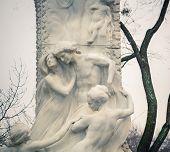 Detail of Johann Strauss Statue in Vienna Stadtpark, Austria