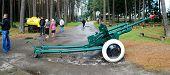 Cannon In The Grutas Park Near Druskininkai Town