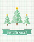 Christmas Card With Three Fir Trees