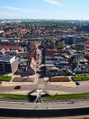 Aerial view of Harlingen, the Netherlands