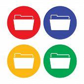 Flat simple folder icon