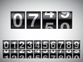 picture of time machine  - Counter with all numbers on white background - JPG