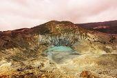 Crater lake of Tangkuban Perahu, Bandung, West Java, Indonesia.