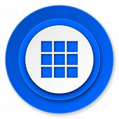 thumbnails grid icon, gallery sign