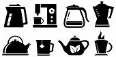 Set Icon For Coffee And Tea Appliances