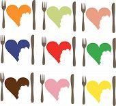 Love Food love heart