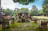 Buddha image, in Sri Chum temple, the Sukhothai Historic Park, Thailand
