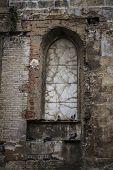 old gothic window, Spanish city of Valencia, Mediterranean architecture