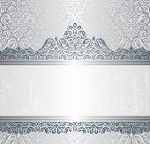 Silver luxury vintage invitation background design