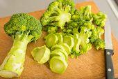 Broccoli On The Cutting Board