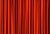 Luxury Red Drapes Curtain With Many Shadow Vector