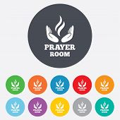 picture of priest  - Prayer room sign icon - JPG