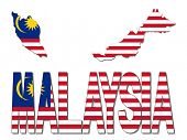 Malaysia map flag and text illustration