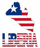 Liberia map flag and text illustration