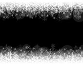 Abstract Christmas background with black copy space.