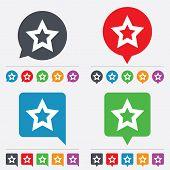 Star sign icon. Favorite button. Navigation