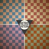 Retro hipster squares background