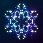 Abstract cosmic fractal vector snowflake