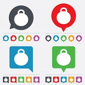 Weight sign icon. Sport symbol. Fitness.