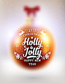 Blurred Christmas Ball. Xmas Decorations. Blur Silver Snowflakes. Holiday Design for New Year Greeting Cards, Posters and Flyers. Vector.