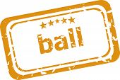 Ball Word On Rubber Grunge Stamp Isolated On White