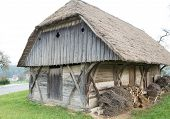 Old wooden rural barn in Slovenia