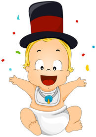 stock photo of new years baby  - An Illustration of a New Year Baby with Clipping Path - JPG