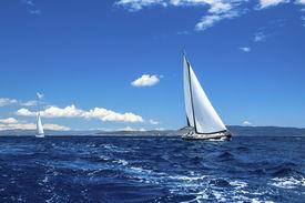 pic of sails  - Sailing ship yachts - JPG