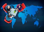 picture of globalization  - World Global Cartography Globalization Earth International Concept - JPG