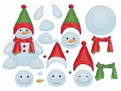 foto of snowman  - Fun snowman templates - JPG