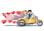 picture of sidecar  - 3d illustration - JPG