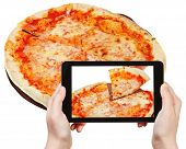 stock photo of take out pizza  - photographing food concept  - JPG