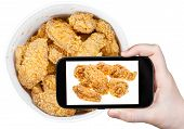 foto of chicken wings  - photographing food concept  - JPG