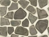 foto of wall-stone  - Seamless texture of stone wall  in gray - JPG