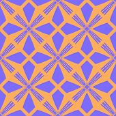 picture of symmetrical  - Seamless symmetrical geometric pattern vector illustration - JPG