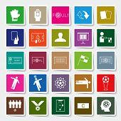 picture of offside  - Soccer square sticker icons set vector illustration - JPG