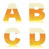 Alphabet beer abcd