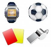 foto of offside  - Football set with ball - JPG