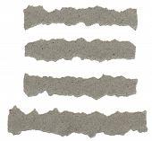 stock photo of cut torn paper  - Torn Paper texture - JPG